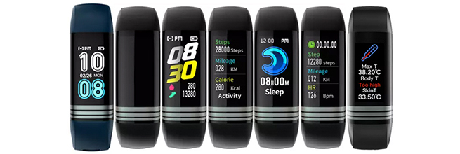 pulsera deportiva con medicion de temperatura corporal
