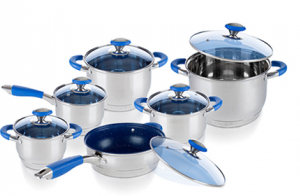 Batería de cocina blue concept 12 piezas