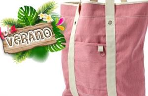 ¡Hola verano! Bolsa de algodón rosa para la playa o la piscina por 9.95€