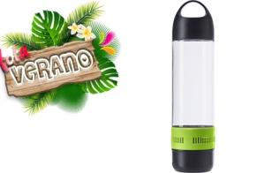 ¡Hola verano! Botella-radio con altavoz incorporado de conexión inalámbrica por 14.95€