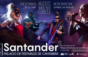 Entrada para el show Music Has No Limits en el Palacio de Festivales