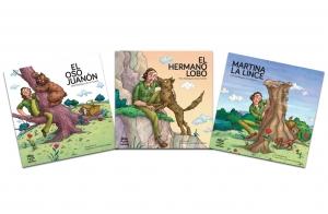 3 álbumes ilustrados con relatos inéditos de Félix Rodríguez de la Fuente