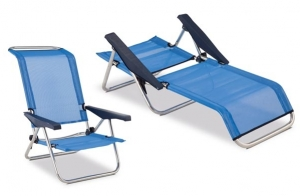 Silla de playa de aluminio y reclinable